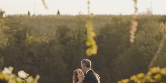 Romantic image of a wedding anniversary