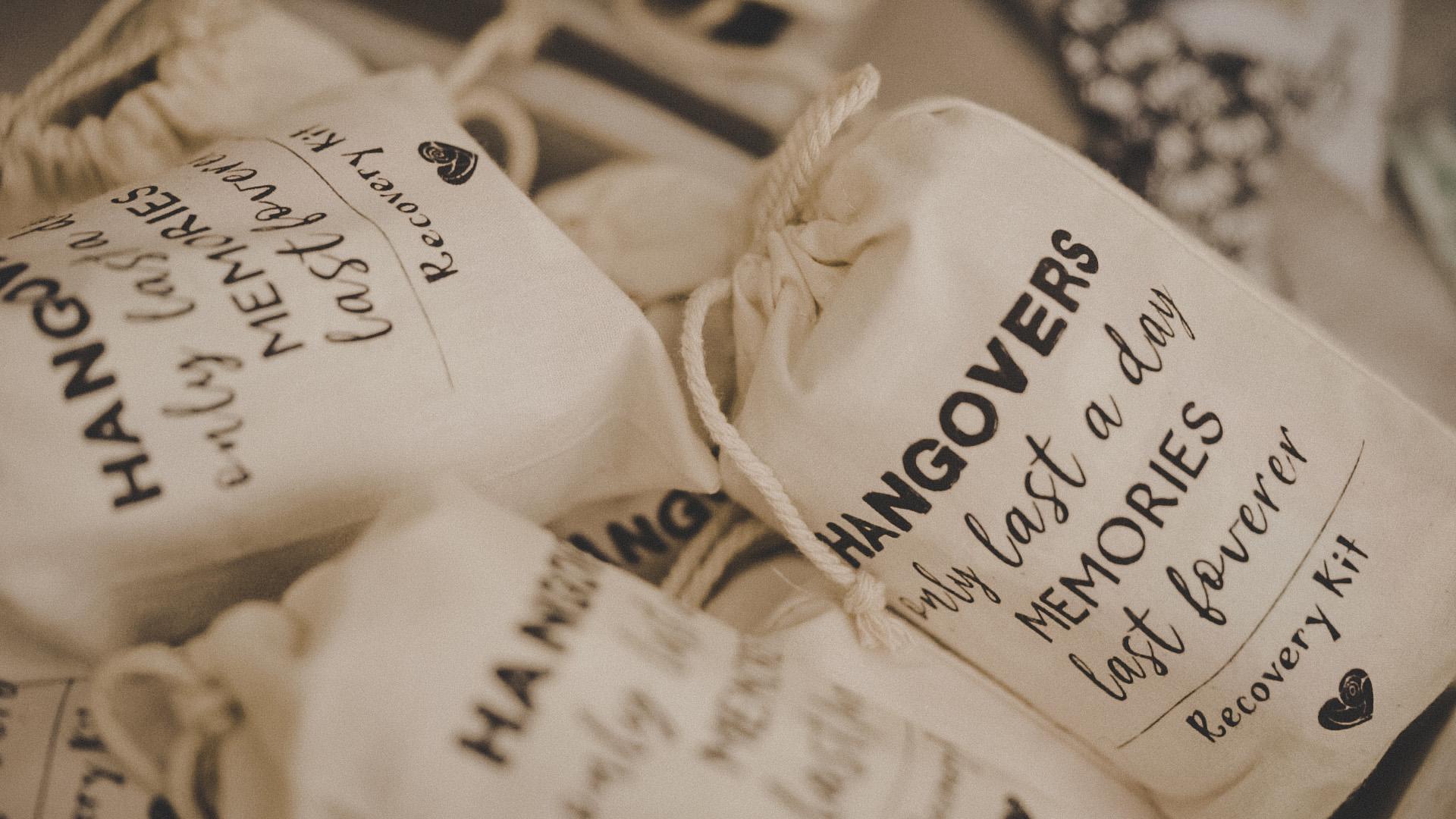 recovery kit per gli invitati al matrimonio